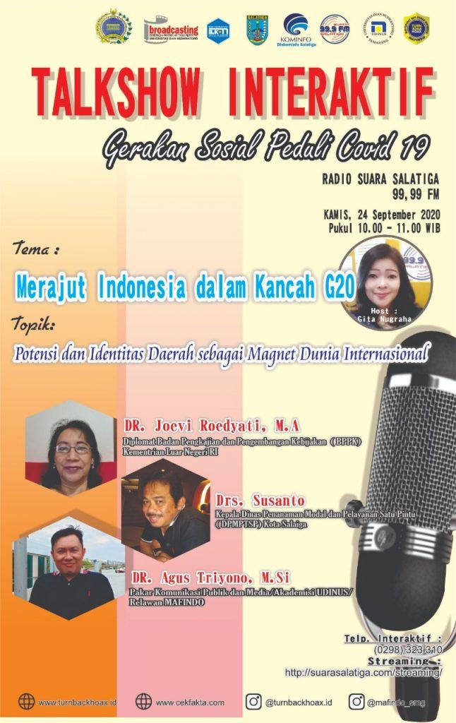 "Talkshow Interaktif ""Merajut Indonesia Dalam Kancah G20"""